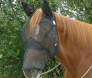 Cashel Quiet Ride Fly Mask mit Ohren- und Nasenschutz