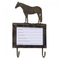 Boxenschild mit Halfter-Haken Quarter Horse