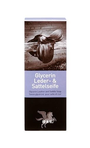 B&E Glycerin Lederseife 250g Riegel im Jutesack