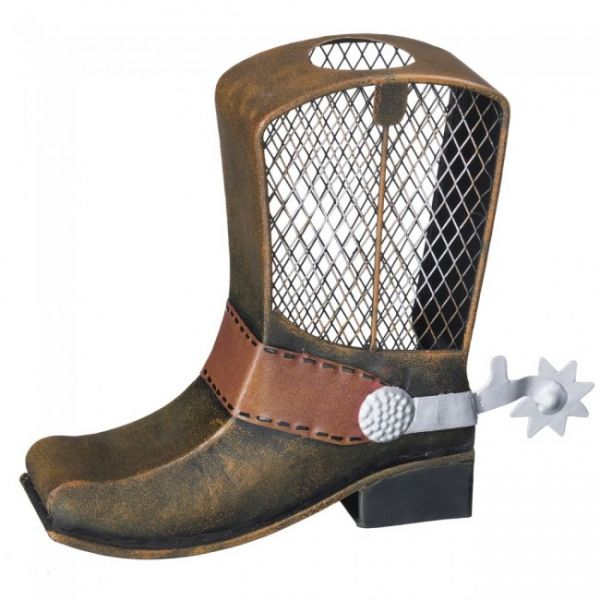Metal Cowboy Boot Bank