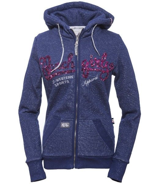RANCHGIRLS HOODED JKT Jewel blue