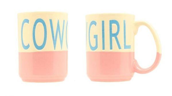 Tasse Keramik Cowgirl Pink