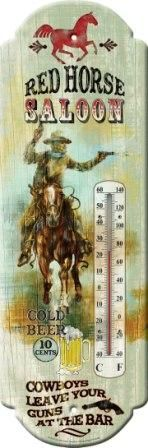 Thermometer Red Horse Saloon