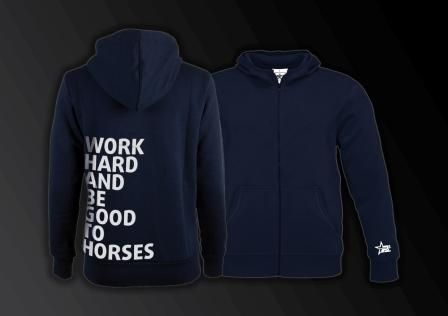 """Zoodie """"work hard and be good to horses"""