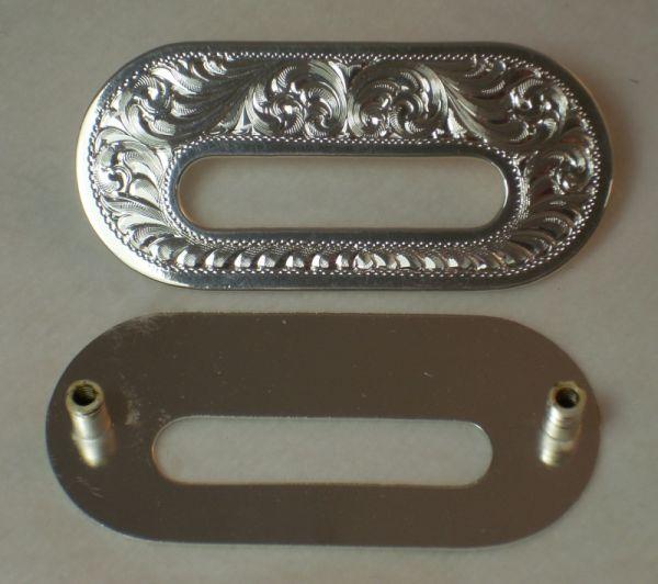 Montana Silversmith Slot Plate Silberbeschlag Sattel 2 Stück