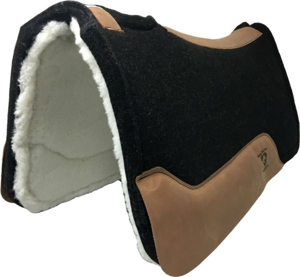 Diamond Wool Pad Black Gold Performance Roper Merino 3/4 Inch