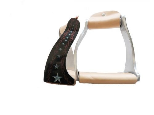 Aluminum Steigbügel im barbwire star design