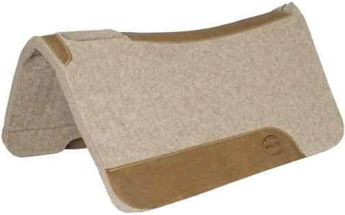 Premium Contoured Wollfilz-Pad 1 Inch mit hochwertigem Lederbesatz