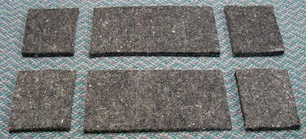 Diamond Wool Contoured Relief Ersatzfilz