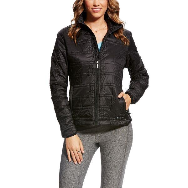 Ariat Womens Ideal Quilted Windjacket black