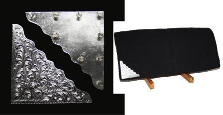 Gravierte Silberecken für Blankets (Paar)
