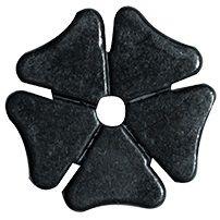 Sporenrädchen Kleeblatt klein stumpf schwarz