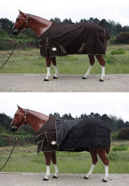 2in1 Tough Horse 1680D Regendecke mit 300g Unterdecke