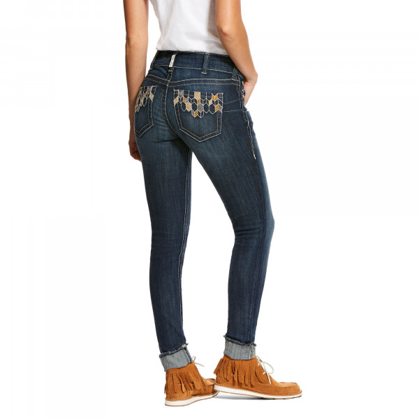 Ariat Womens REAL Riding Skinny Deco Tile