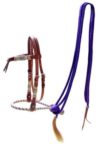 Showman Bosal Set purple Rawhide