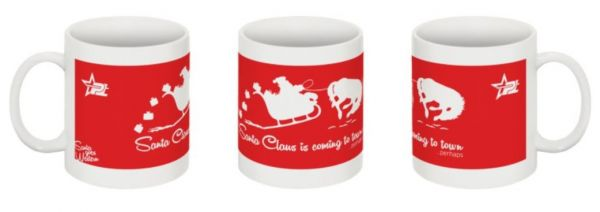 PT Santa goes Western Tasse in 4 Motiven