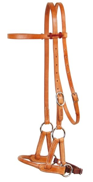 Schutz Brothers Harness Round Leather Nose Sidepull