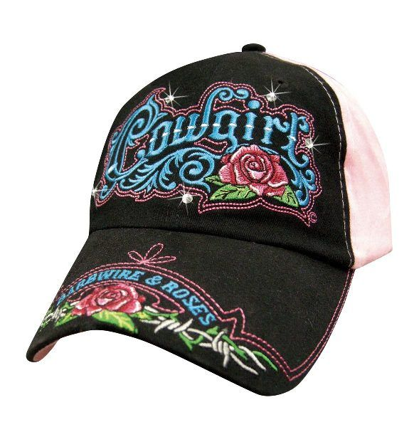 Cap Cowgirl Barbwire & Roses