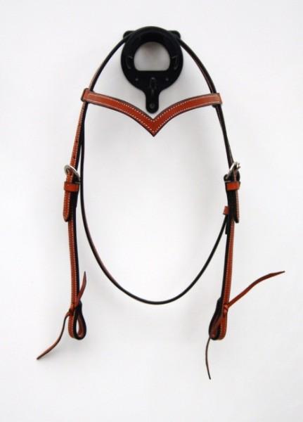 Eco Kopfstück - mittelbraun V-Stirnband
