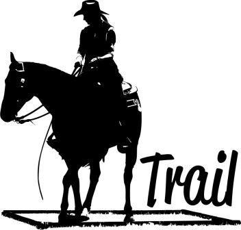 Western-Aufkleber Trail