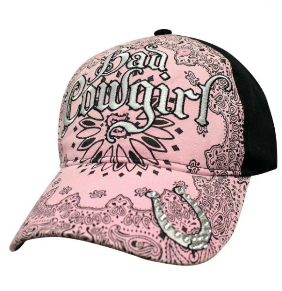 Cap Bad Cowgirl Paisley pink