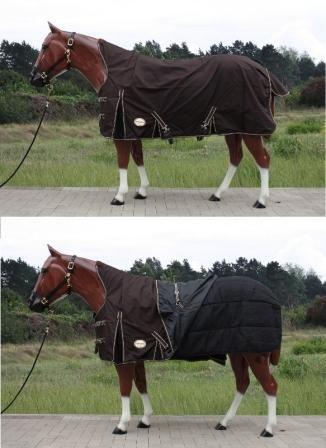 2in1 Tough Horse 1680D Halfneck mit 100g Unterdecke