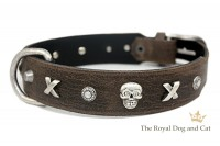 Halsband Piraten by The Royal Dog and Cats - braun/antik Gr. 47-52cm