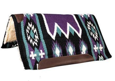 Dakota Wollpad 34 x 36 purple/black