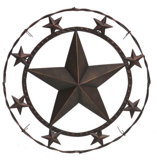 Raised star wall art