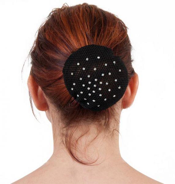 Haarnetz mit Kristallsteinchen