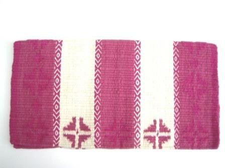 TexMex Showblanket White&Pink
