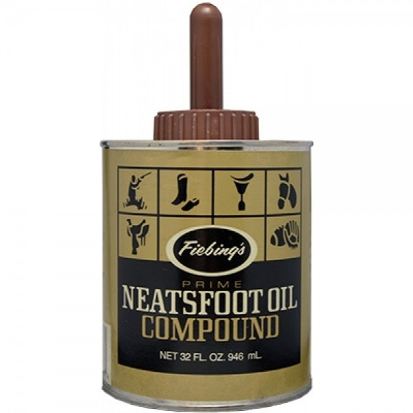 Fiebing's Prime Neatsfoot oil compound mit Pinsel