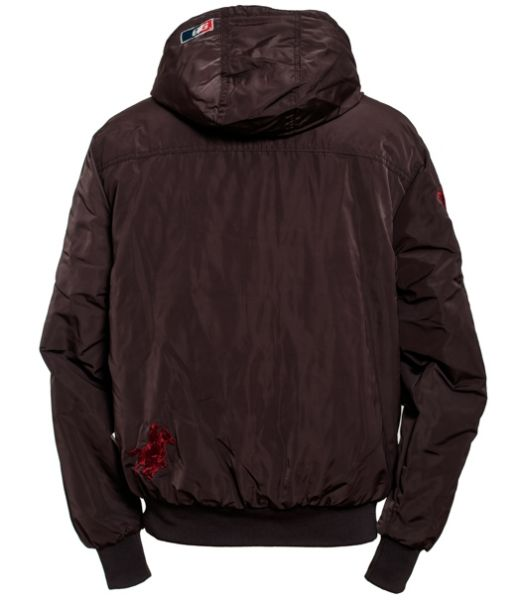 OSWSA Mens Hooded Winter Jacket charcole