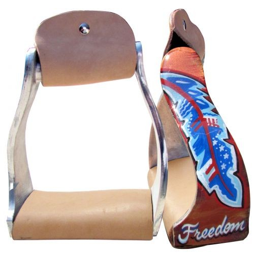 Showman Twisted Anged Steigbügel Freedom Feather