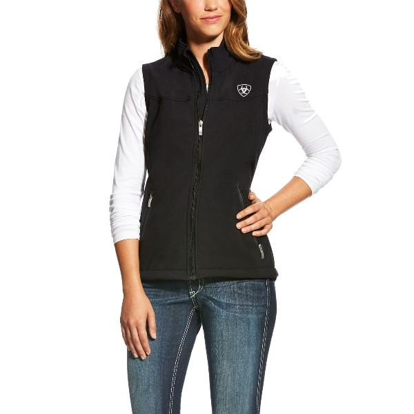 Ariat Womens New Team Softshell Vest black