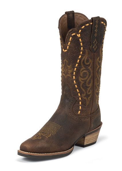Justin Boots Womens Copper Buffalo Silver Collection
