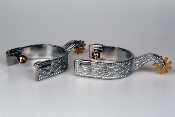 Show Sporen GS German Silver Chrom