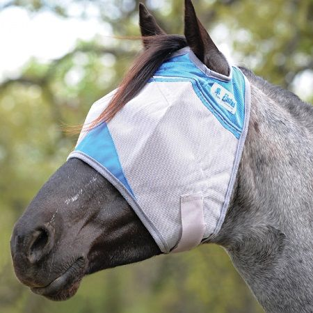 Crusader Blue Fly Mask Cashel UV-Schutz