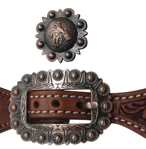 Western Sporenriemen aus US Leder mit Spots hell oder dunkel
