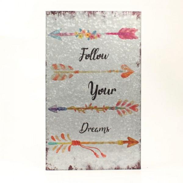 Metallbild Follow your Dreams
