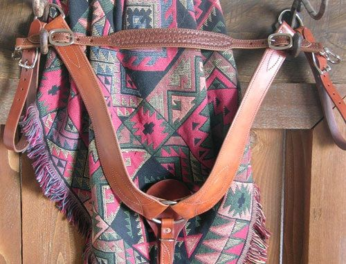 Buckaroo Leather Over the Neck BC Strap Vorderzeug Nackenriemen